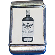 Claymore Scotch Whisky match safe, celluloid, by J Eldred & Co. & Whitehead & Hoag, c. 1905, Scotland