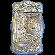 Palace of Machinery, World's Fair, St. Louis, 1904 - allegorical design match safe, brass, Japanese