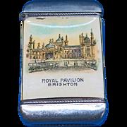 Royal Pavilion, Brighton, England souvenir match safe, celluloid wrapped, Chas. E. Brann & Company, c. 1904