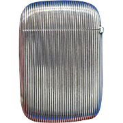Fine ribbed design match safe, sterling by Gorham Mfg. Co., gilted interior, B2629, c. 1910