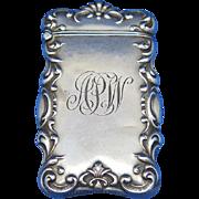 Swirl edge design match safe, sterling by L. Fritzsche & Co., c. 1900