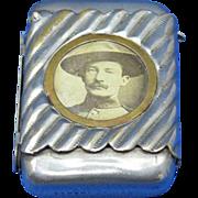 Baden Powell, Boy Scouts, match safe, Reg. Design #109,812, c. 1908