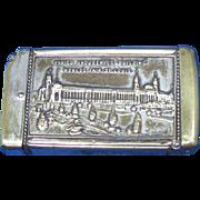 1904 St. Louis World's Fair match safe, U.S. Government Bldg, Vaired Industries Bldg, cigar cutter, by National Novelty Co.