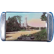 Gettysburg, PA souvenir match safe, High Water Mark of the Rebellion & On Little Round Top, celluloid wrapped, c. 1910