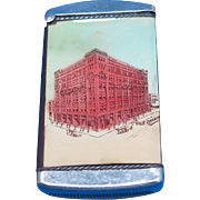 Clark-Weaver Co., Wholesale Hardware, Grand Rapids, Mich match safe, celluloid wrapped, Hardware Dealers Convention 1912