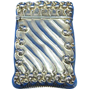 Diagonal fluted design match safe, sterling by Reddall & Company, c. 1900, gold gilted interior