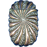 Swirl design match safe with gold and nickel plated finish, c. 1895