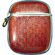 Guilloche' translucent match safe by David Anderson, sterling, c. 1900