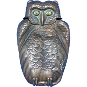 Figural Japanese owl (fukuro) match safe, c. 1895