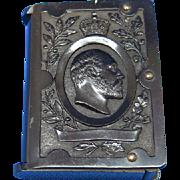 King Edward VII match safe, vulcanite, c. 1902, vesta