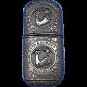 Arm & Hammer Soda advertising match safe, thermoplastic, c. 1890