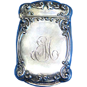 Edge design match safe, sterling by F. S. Gilbert, gold gilted interior, c. 1900