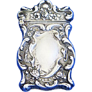 Floral motif match safe, sterling by F. S. Gilbert, c. 1900