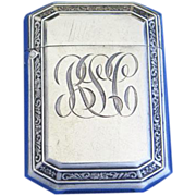 Edge design match safe, sterling by Battin & Co., gold gilted interior, cat. #3338, c. 1910