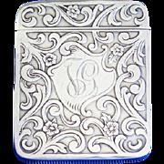 Floral motif match safe, sterling by L. Fritzsche & Co., c. 1905