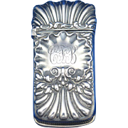 Shell design match safe, sterling by Whiting Mfg. Co., cat. #4059, c. 1900