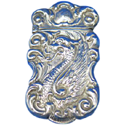 Serpent motif match safe, sterling, c. 1900