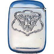 Independent Order of Odd Fellows match safe, sterling by Paye & Barker, c. 1900, Masonic, Masons