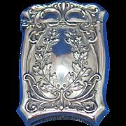Wreath motif match safe, sterling by Watson Co., c. 1900