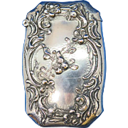 Floral motif match safe, sterling, by Wm. Kerr, c. 1900