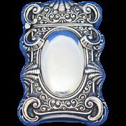Shell & swirl design match safe, sterling by L. Fritzsche & Co., c. 1900