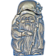 Figural Jurojin, God of Wisdom & Long Life match safe, Japanese Lucky God, c. 1895