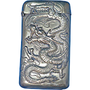 Dragon & 1904 St Louis World's Fair motif match safe, Japanese