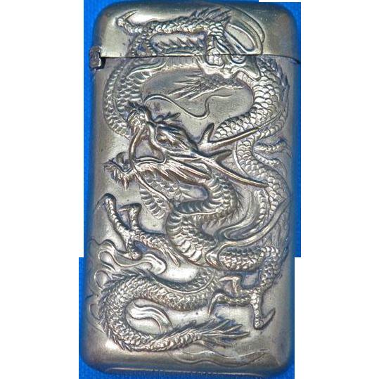 Dragon & 1904 St Louis World's Fair motif match safe, Japanese