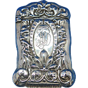 King Neptune motif match safe, sterling, c. 1900