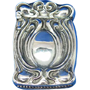 Art Nouveau design match safe, sterling by Unger Bros,c. 1905