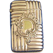 Unusual design match safe, gold plated, by Wm. Hayden Co. c. 1893