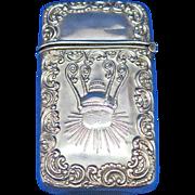 Pintsch gas railroad light match safe, sterling, c. 1900