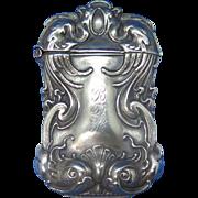 Stylized fish motif match safe, G. Silver, c. 1900