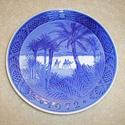 1972 Royal Copenhagen Christmas Plate (Two)