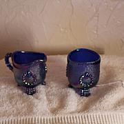 Imperial Glass Toothpick & Creamer (Aurora Jewels)