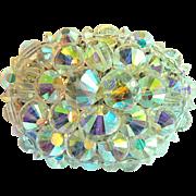 1958-63 Vintage Hobe' Brooch Pin Cluster of Aurora Borealis Crystals