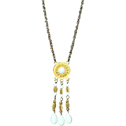Vintage 1960's Kenneth J. Lane Long Drop Bead Necklace