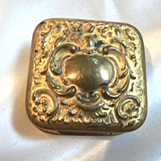 Victorian Repousse Patch Box / Pill Box - Red Tag Sale Item