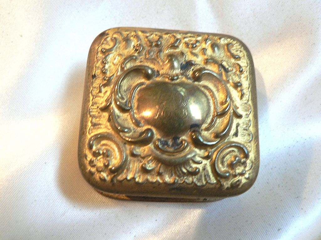 Victorian Repousse Patch Box / Pill Box