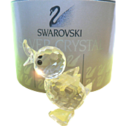 Vintage Swarovski Crystal Mini Drake Duck #7660 & Box