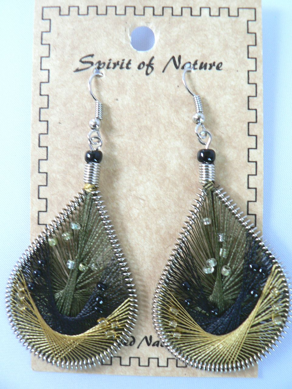 Fabulous Handcrafted Ornately Threaded & Beaded Dangle Earrings