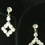 Vintage Austrian Crystal Rhinestone Dangle Earrings