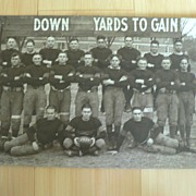 Rare 1920 Football Team Photograph St. Johns Military School Photography