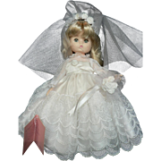 "VTG Effanbee Doll Li'l Innocents 9"" Bride Doll 1980's Like New"
