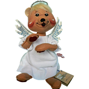 "1993 Rare Annalee Angel Bear, "" Unbearably Angelic""  8 1/2"" Tall Excellent Condition"