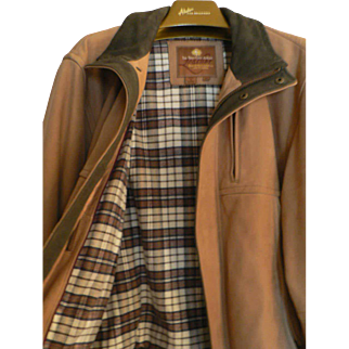 "Sharp Men's ""The Territory Ahead"" Napa Leather Huntsman Jacket / Coat Medium"