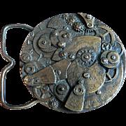 1960's-70's Bronze Watch Movement Belt Buckle Steampunk Style American Watch Co.