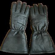 Vintage Vintage Alaska Wear Men's Motorcycle Cow Hide Winter Gloves Sz. M/L