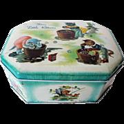 "1942 "" Vintage Three Little Kittens "" Cote'Dor Tin Enamel English Container"
