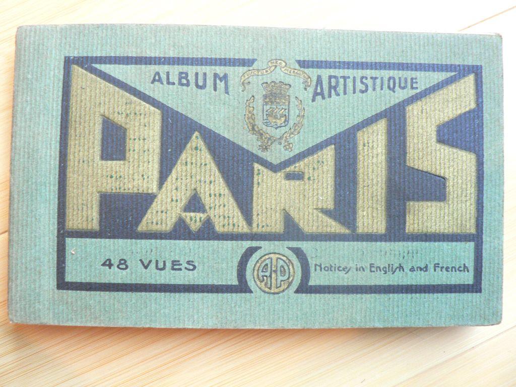 Paris 48 Vues 1920s Vintage Art Deco Style View Book & War Battlefields & Hotel Brochure